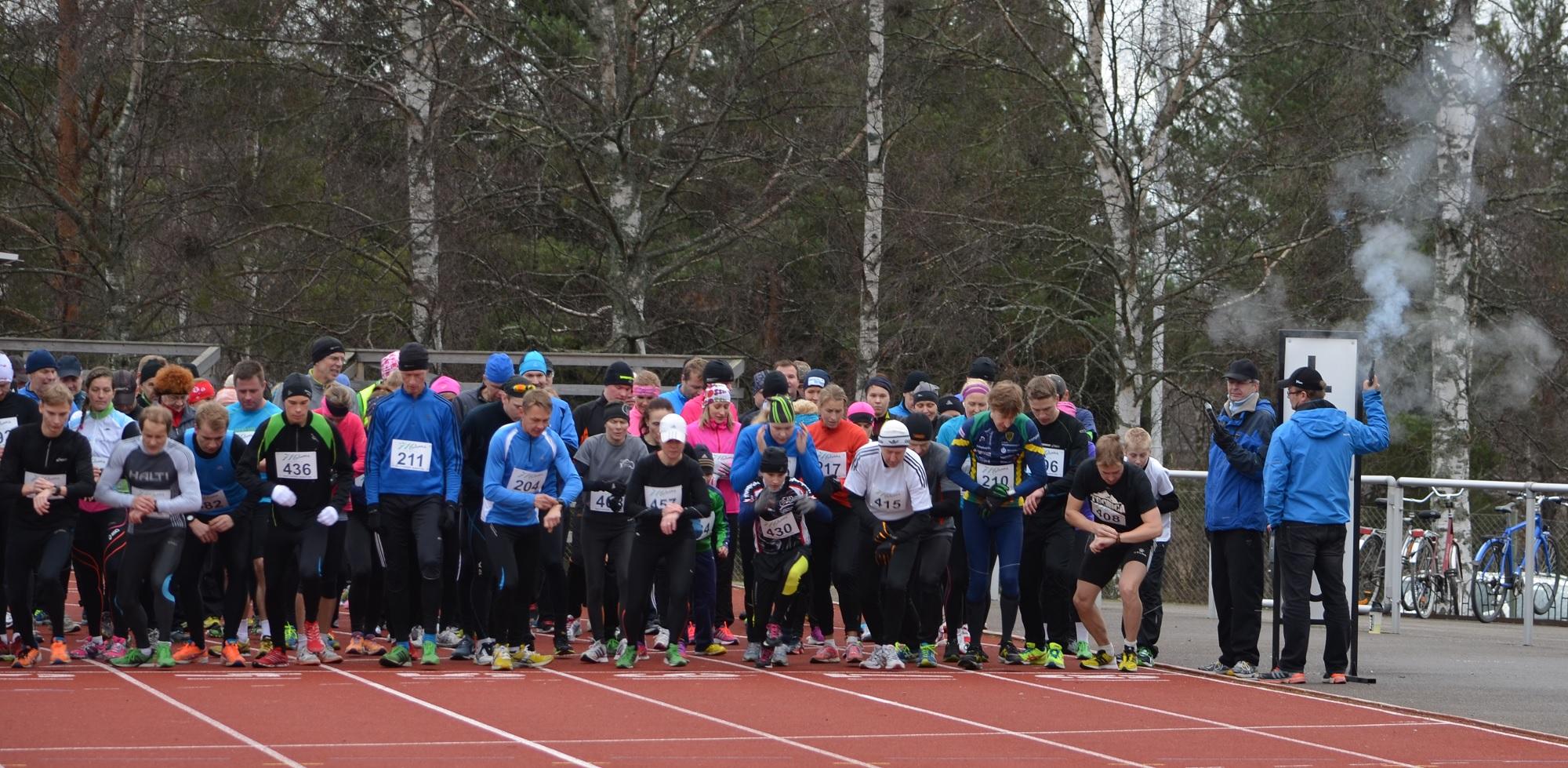 Lähtöpaikkana toimii Sastamalan keskusurheilukenttä.